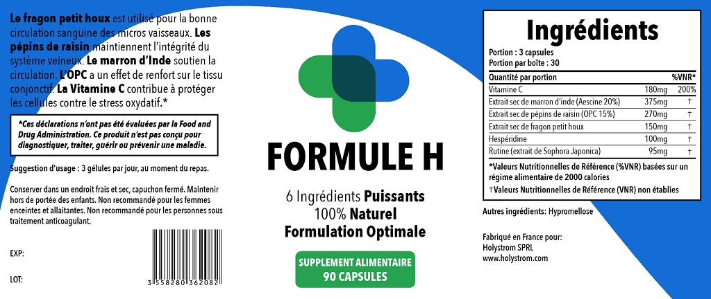 formule h etiquette